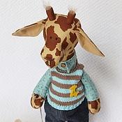 Куклы и игрушки ручной работы. Ярмарка Мастеров - ручная работа Жираф Жора - мягкая игрушка тильда. Handmade.