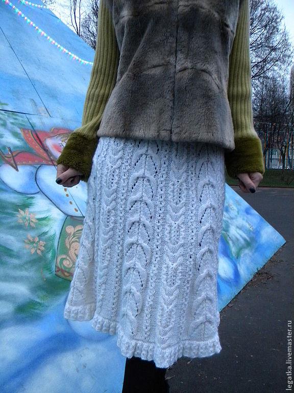 Юбка вязанная описание-зимняя