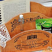 Канцелярские товары handmade. Livemaster - original item Stand container for papers, spices, oil French province. Handmade.