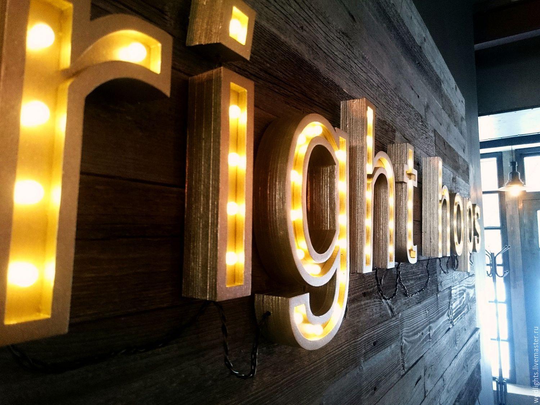 Рекламные вывески с подсветкой фото