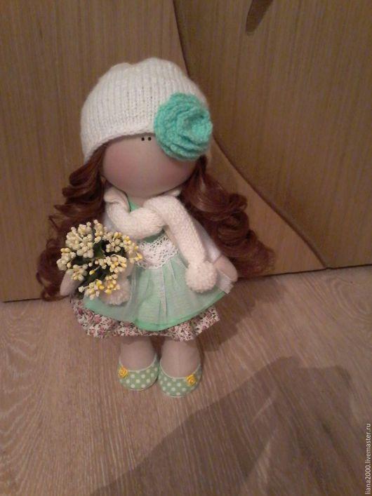 Коллекционные куклы ручной работы. Ярмарка Мастеров - ручная работа. Купить Интерьерная кукла, нежная малышка. Handmade. Салатовый