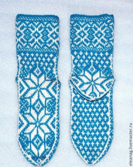 Вязание ручной работы. Ярмарка Мастеров - ручная работа. Купить Схема для вязания жаккардовых носков Полярная звезда. Handmade.