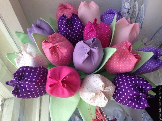 Букеты ручной работы. Ярмарка Мастеров - ручная работа. Купить Букет тюльпанов. Handmade. Фиолетовый, букет, цветы ручной работы