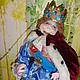 Сказочные персонажи ручной работы. Заказать Текстильная кукла. Король из сказки Андерсена. Лидия.Сказка .. Ярмарка Мастеров. Интерьерная кукла