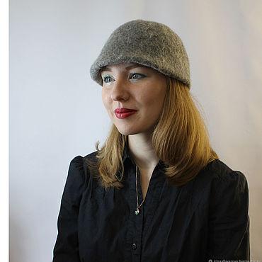 Аксессуары ручной работы. Ярмарка Мастеров - ручная работа Валяная шляпка кепка клош. Handmade.