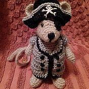 Куклы и игрушки ручной работы. Ярмарка Мастеров - ручная работа Мышка пират.. Handmade.