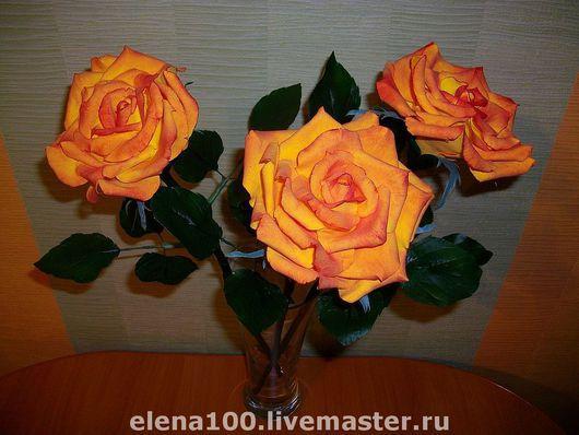 Цветы ручной работы. Ярмарка Мастеров - ручная работа. Купить Розы - керамическая флористика. Handmade. Цветы ручной работы, разноцветный