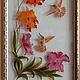 Картины цветов ручной работы. Ярмарка Мастеров - ручная работа. Купить Колибри на орхидее. Handmade. Витраж, птицы, колибри