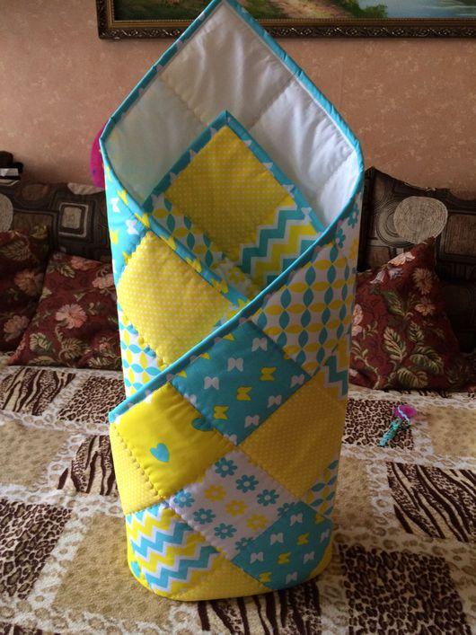 Пледы и одеяла ручной работы. Ярмарка Мастеров - ручная работа. Купить Конверт -одеяло на выписку. Handmade. Плед, одеяло для новорожденного
