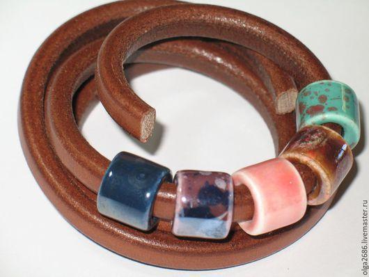 Для украшений ручной работы. Ярмарка Мастеров - ручная работа. Купить Керамические бусины 11х8 мм. Handmade. Разноцветный