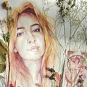 Картины и панно ручной работы. Ярмарка Мастеров - ручная работа Весенний портрет. Handmade.