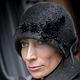 """Шляпы ручной работы. Заказать дизайнерская шляпка из фетра""""Ретро  Шик с розами в сером """". Couture Hats & Luxury Headpieces. Ярмарка Мастеров."""
