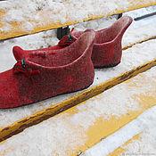 Обувь ручной работы handmade. Livemaster - original item Slippers felted star of the East. Handmade.