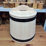 Посуда handmade. Livemaster - original item Cedar tub for salting 15 liters. Barrel for pickles. Handmade.