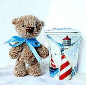 Куклы и игрушки ручной работы. Ярмарка Мастеров - ручная работа Вязаная игрушка медвежонок, который мечтает о море. Handmade.