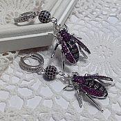 Украшения handmade. Livemaster - original item Earrings with zircons