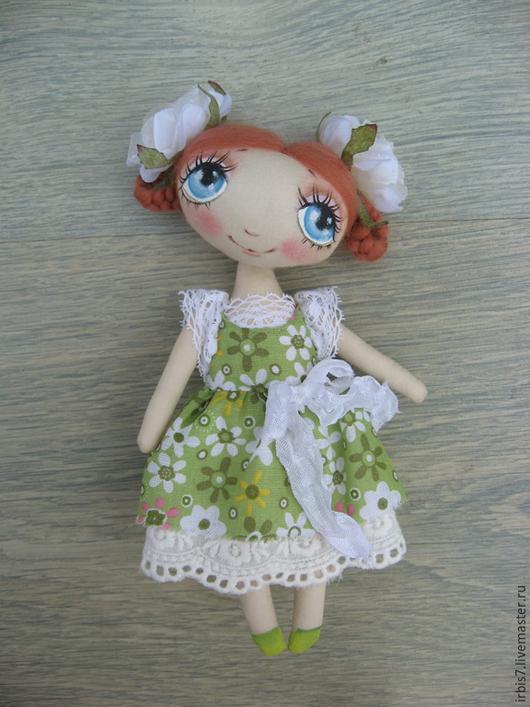 Коллекционные куклы ручной работы. Ярмарка Мастеров - ручная работа. Купить Милана. Handmade. Салатовый, розы искусственные, куколка на счастье