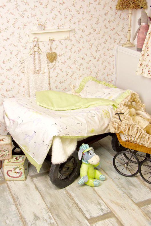 Для дома и интерьера ручной работы. Ярмарка Мастеров - ручная работа. Купить Детское постельное белье Веселый зоопарк. Handmade.