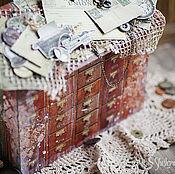 """Канцелярские товары ручной работы. Ярмарка Мастеров - ручная работа Винтажный фото бокс """"Архив"""". Handmade."""