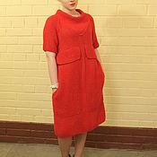 Одежда ручной работы. Ярмарка Мастеров - ручная работа Оригинальное терракотовое платье ручной работы. Handmade.