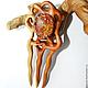 """Заколки ручной работы. Заказать Заколка из дерева с авторским кабошоном из стекла """"Пришла весна"""". Oakforest (Александр). Ярмарка Мастеров."""