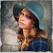 """Аксессуары ручной работы. Ярмарка Мастеров - ручная работа """"Благородный серый"""" шляпка. Handmade."""