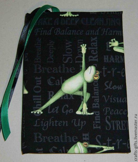 Блокноты ручной работы. Ярмарка Мастеров - ручная работа. Купить Блокнот Йога 2. Handmade. Зеленый, блокноты ручной работы