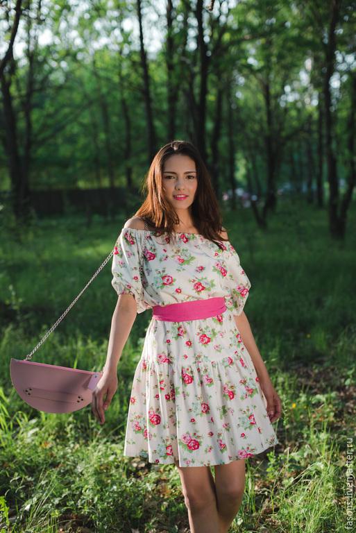 """Платья ручной работы. Ярмарка Мастеров - ручная работа. Купить Платье """"ФАСОН""""(Диана). Handmade. Разноцветный, платье, легкое платье"""