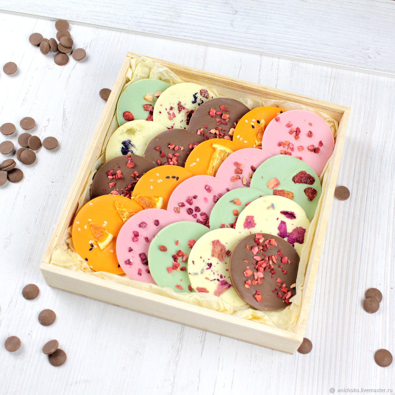 Подарки на 8 марта: Шоколадные медианты из бельгийского шоколада, микс, Кулинарные сувениры, Москва,  Фото №1