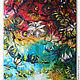 """Картины цветов ручной работы. """"Hawaiian spring"""" 90х80 см большая картина маслом мастихином цветы. SLEEPWALKERS. Интернет-магазин Ярмарка Мастеров."""