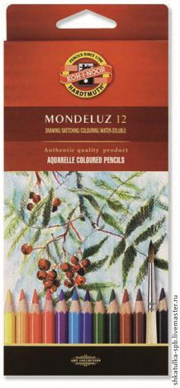 Другие виды рукоделия ручной работы. Ярмарка Мастеров - ручная работа. Купить Карандаши акварельные 12 цветов MONDELUZ. Handmade.