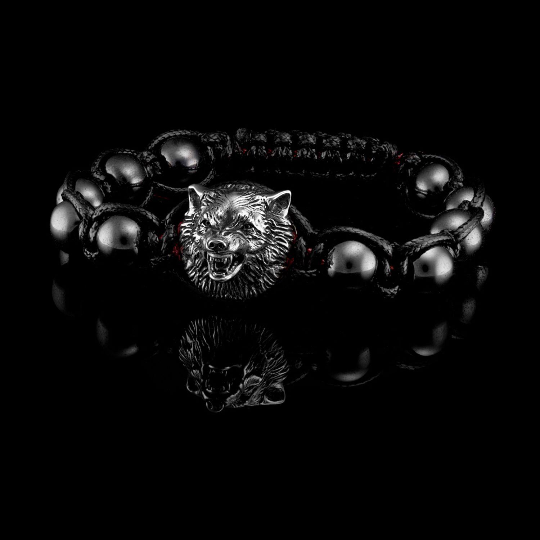 Bracelet Wolf, Bead bracelet, Moscow,  Фото №1
