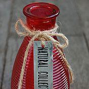 Для дома и интерьера ручной работы. Ярмарка Мастеров - ручная работа Ваза декоративная, красная. Стекло.. Handmade.