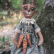 Куклы и игрушки ручной работы. Ярмарка Мастеров - ручная работа Печеная Зая с морковками)). Handmade.
