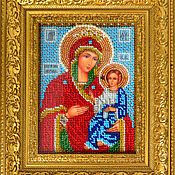 Картины и панно ручной работы. Ярмарка Мастеров - ручная работа Иверская икона Божией Матери. Handmade.