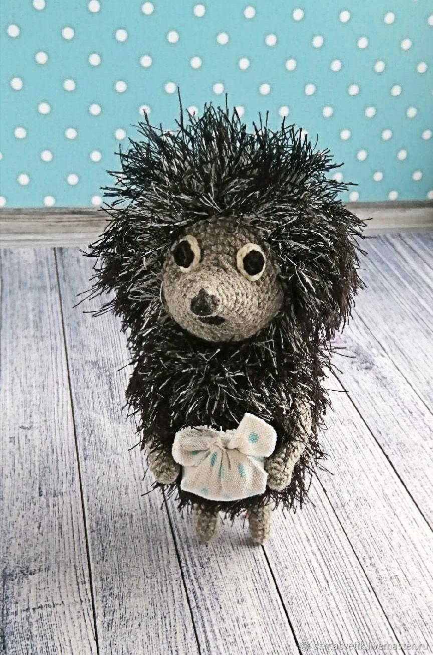 Soft knitted toy hedgehog in the fog, Stuffed Toys, Rybinsk,  Фото №1