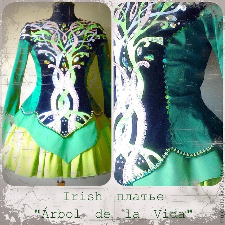 платья для ирландских танцев фото