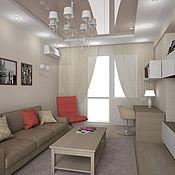 Дизайн и реклама ручной работы. Ярмарка Мастеров - ручная работа Дизайн двух комнатной квартиры г. Самара. Handmade.