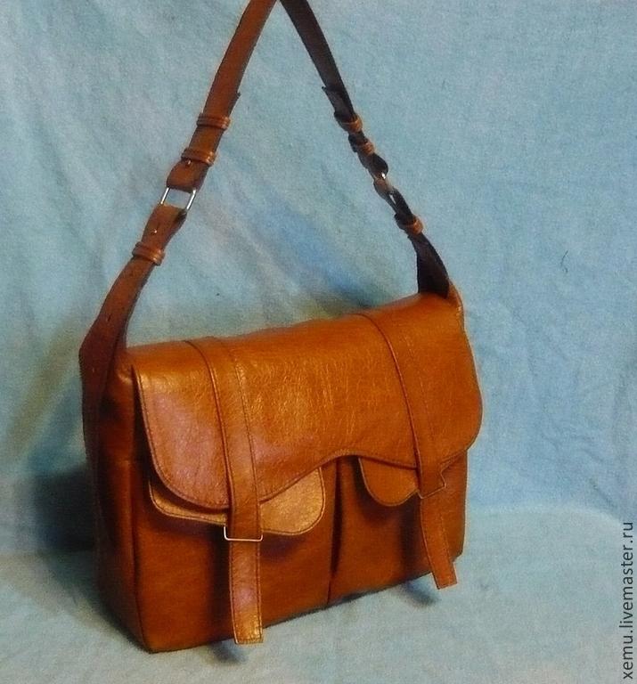 Рыжие сумки из кожи фурла