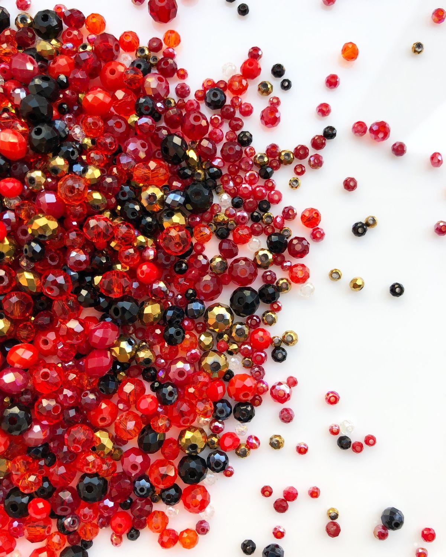 Стеклянные рондели Ruby mix, Бисер, Серпухов,  Фото №1