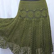 Одежда handmade. Livemaster - original item Summer openwork skirt crocheted from cotton. Handmade.