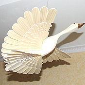 Фен-шуй и эзотерика ручной работы. Ярмарка Мастеров - ручная работа Птица счастья из дерева (гусь). Handmade.