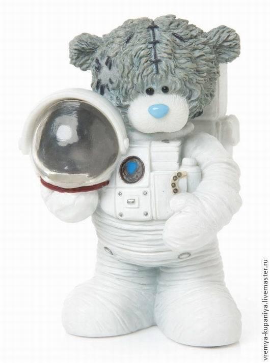 """Другие виды рукоделия ручной работы. Ярмарка Мастеров - ручная работа. Купить Силиконовая форма для мыла  """"Тедди-астронавт"""". Handmade."""
