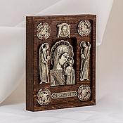 "Картины и панно handmade. Livemaster - original item Icon ""Mother-of-God of Kazan"" with archangels. Handmade."
