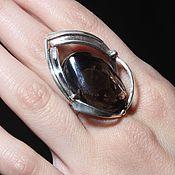 Украшения handmade. Livemaster - original item Salina ring with smoky quartz in 925 silver AN0022. Handmade.
