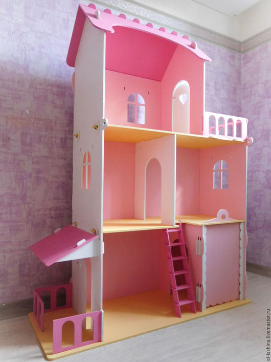 """Кукольный дом ручной работы. Ярмарка Мастеров - ручная работа. Купить кукольный дом """"Полина"""" (цв). Handmade. Розовый"""