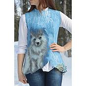 Одежда handmade. Livemaster - original item Woolen waistcoat Husky. Handmade.