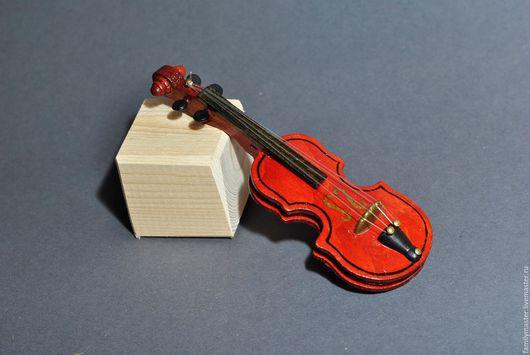 Куклы и игрушки ручной работы. Ярмарка Мастеров - ручная работа. Купить Скрипка 12см. Handmade. Миниатюра для кукол, деревянная скрипка