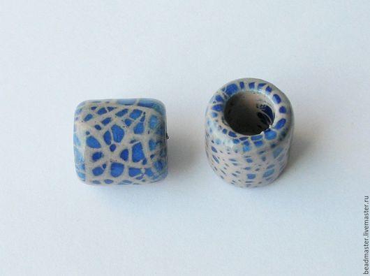 Для украшений ручной работы. Ярмарка Мастеров - ручная работа. Купить Бусина керамическая, отверстие 10 мм (БКЖ4). Handmade.