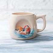 """Кружки ручной работы. Ярмарка Мастеров - ручная работа Кружка """"Утка-мандаринка"""" (чашка с уткой). Handmade."""